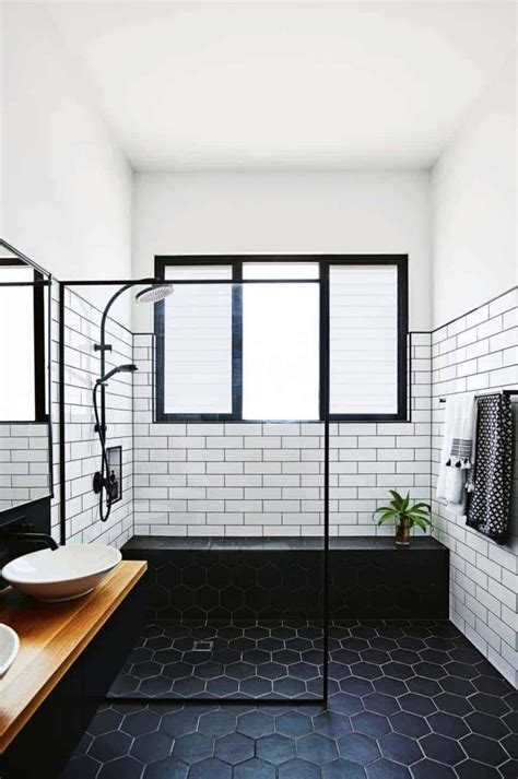 incredibly stylish black  white bathroom ideas  inspire