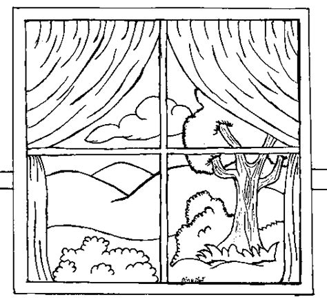 coloring page for window window coloring page coloringcrew com