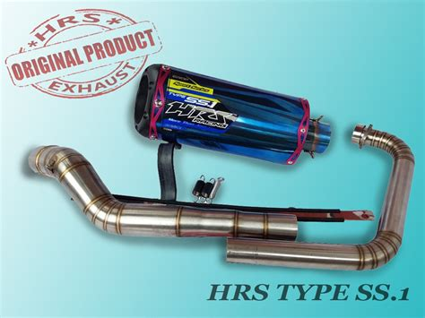 Knalpot Untuk Vixion Cbr 150 R Byson Jupiter jual beli knalpot hrs ss 1 blue original fullsystem