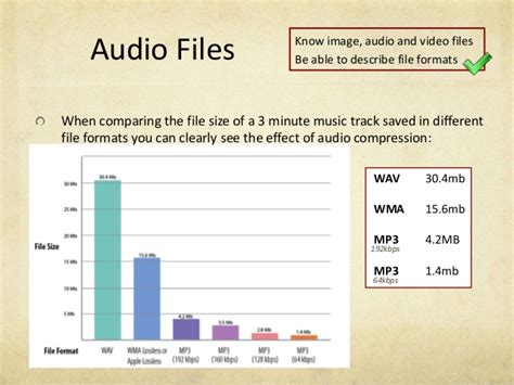 file format for audio file format