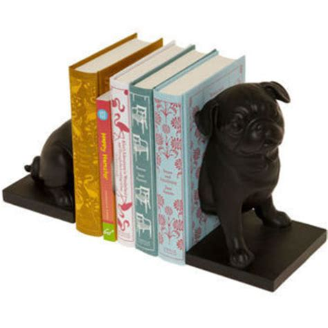 modcloth pug canine companion bookends in pug mod from modcloth living