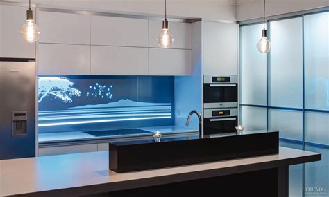 led digital kitchen backsplash high end illuminati backlit glass panels can transform a
