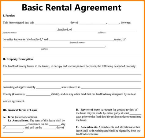 renters lease agreement template free renters lease agreement simple rental agreement template
