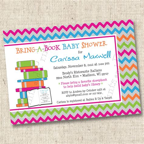 Baby Shower Bring A Book Instead Of A Card Poem Baby Shower Invitations Wording Bring A Book