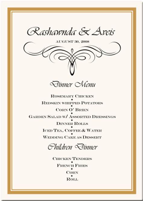 wedding menu cards vintage monogram menu cards special