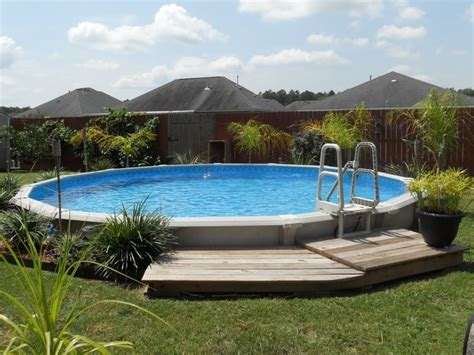 landscaping around above ground pool intex pool above ground pools