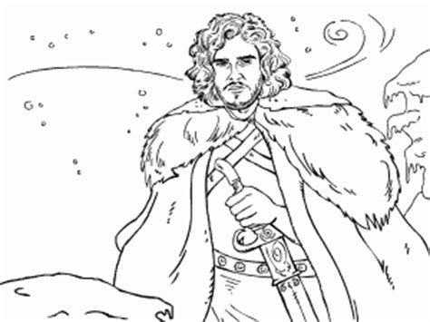 thrones coloring book pdf jon snow of thrones coloring book