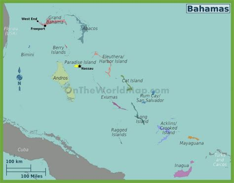 where is the bahamas on the world map administrative map of regions in the bahamas