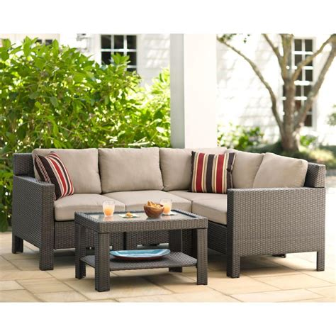 patio sectional cushions hton bay beverly 5 piece patio sectional seating set