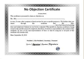 no objection certificate template no objection letter for business noc format hdfc bank