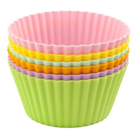 silicone muffin cups jumbo set of 6 in baking products