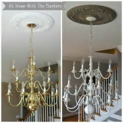 how to paint a metal light fixture chandelier makeover the chandelier the white and did