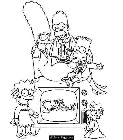 Homer Simpson Coloring Pages Az Coloring Pages The Simpsons Colouring Pages