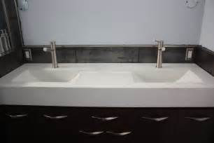 Vanity Top Two Sinks A Eclipse Concrete Vanity Top The Recessed Area