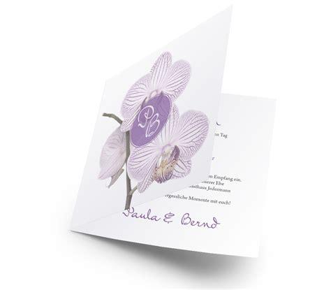 Hochzeitseinladung Orchidee by Hochzeitseinladung Hinrei 223 Ende Orchideen