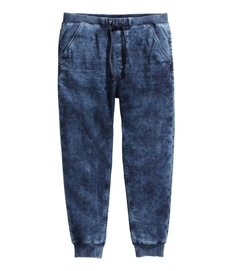 Celana Jogger Jeansjogger Jeansjogger Jeansjogger 1 lyst h m jogger in blue