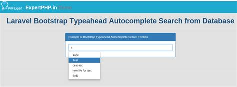 format date laravel 5 laravel bootstrap typeahead autocomplete search from