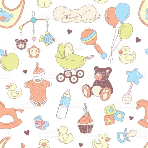 wallpaper cartoon baby boy baby shower seamless pattern texture for baby girl baby