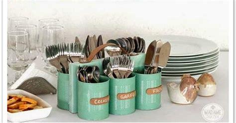 tutorial kerajinan tangan com cara membuat tempat wadah sendok dari kaleng bekas