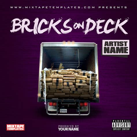 mixtape design templates bricks on deck mixtape cover template by