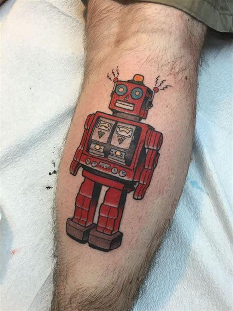 elm street tattoo dallas tx tin robot by tyson ardnt elm guest artist