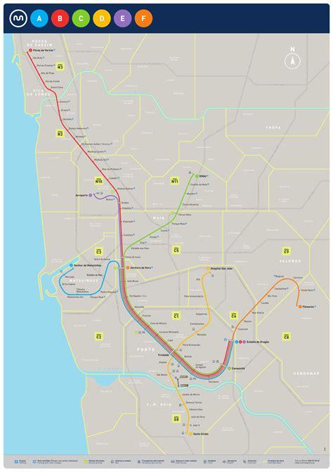 metro porto portogallo metro do porto mapa do metr 244 de porto portugal