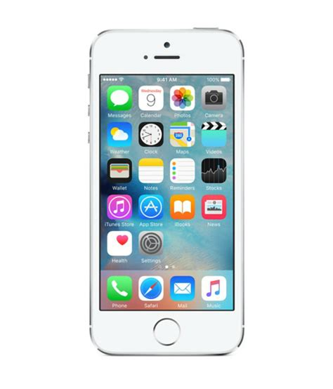 at t apple iphone 5s 16gb smartphone silver property room