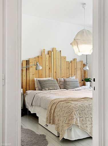 Ordinaire Papier Peint En Tete De Lit #1: deco-de-chambre-avec-une-tete-de-lit-faite-en-palette-bois.jpg