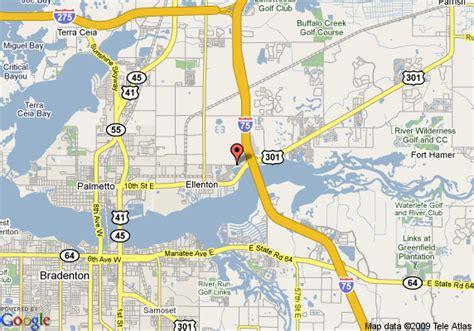 where is ellenton florida on a map map of guesthouse inn ellenton ellenton