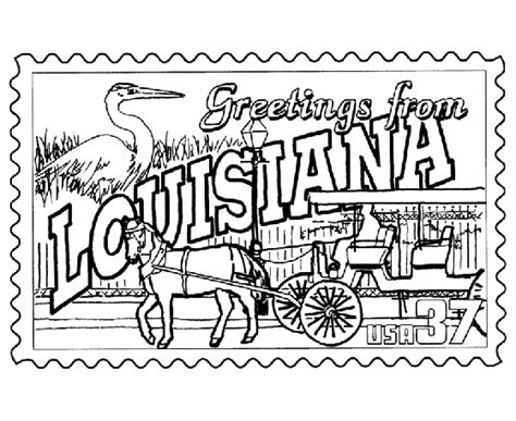 printable state postcards louisiana state st coloring page usa coloring pages