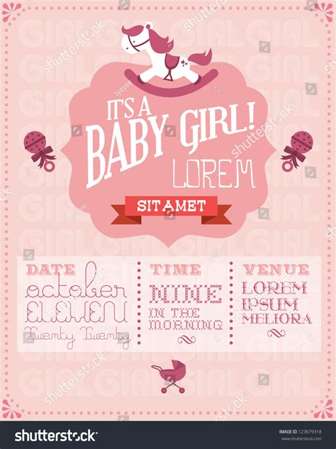 baby month invitation card template baby baby shower invitation card stock vector