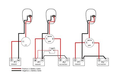 wiring diagram for dual battery system with voltage