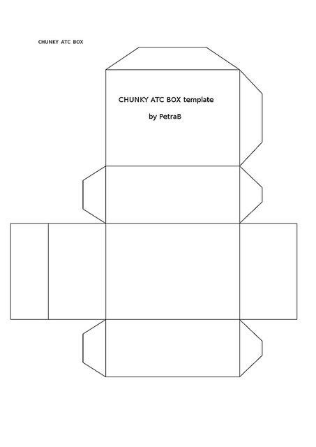 artist trading card template box template for chunky atcs artist trading cards