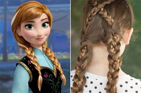 anna from frozen hairstyle anna frozen disney princess inspired hairstyles