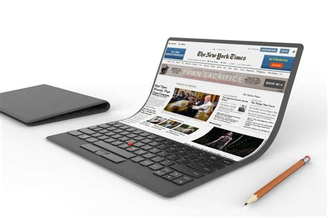 laptop with lenovo shows an absurd laptop concept with a