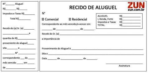 modelo de recibos de aluguel comercial e residencial modelos recibo de aluguel
