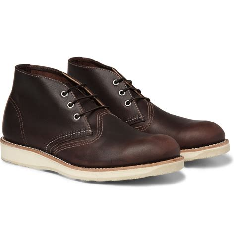 wing chukka boots wing chukka rubbersoled leather boots in brown for