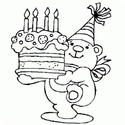 happy birthday bear coloring pages happy birthday printable coloring pages free printable