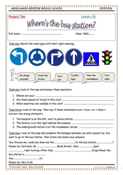 esl resources new february 2016 part 5 lesson where s the station worksheet free esl printable