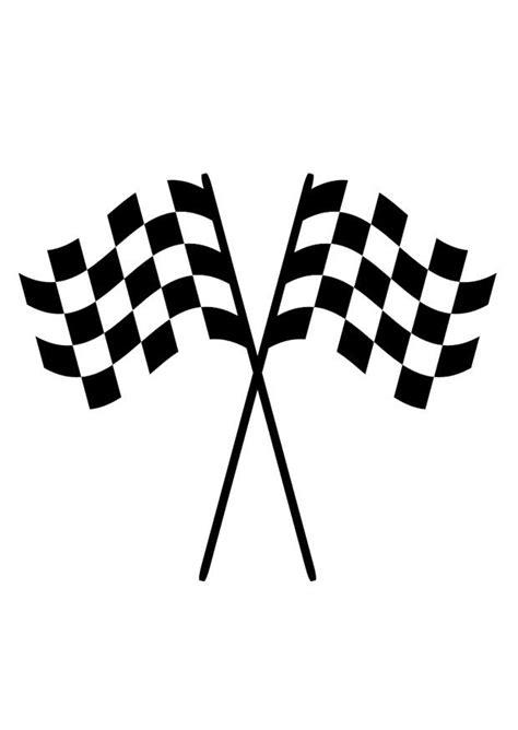 Dibujo para colorear banderas de carreras - Img 29409