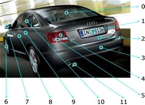 Auto Bezeichnung by Auto Und Autoteile Im Englischen Vokabelliste Mit Bildern