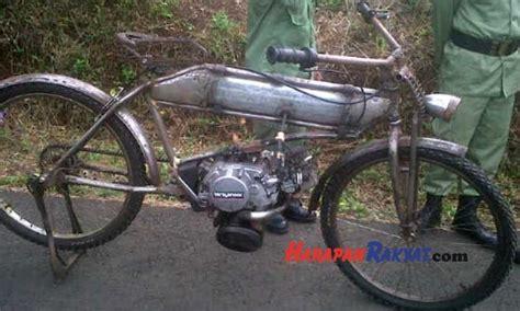 Foto Sepeda Motor Modifikasi by Ini Sepeda Ontel Motor Hasil Modifikasi Warga Kawali