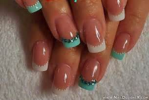 cute french tip acrylic nail designs images