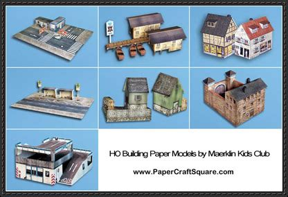 Free Papercraft Models - new paper craft building paper models for diorama free