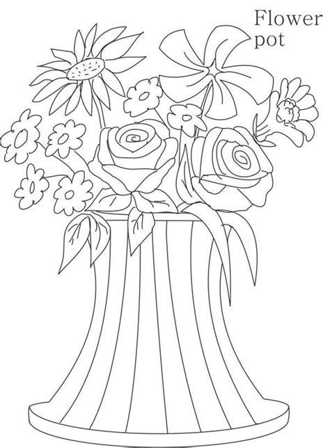 vasi con fiori da colorare disegni vasi di fiori da colorare 30