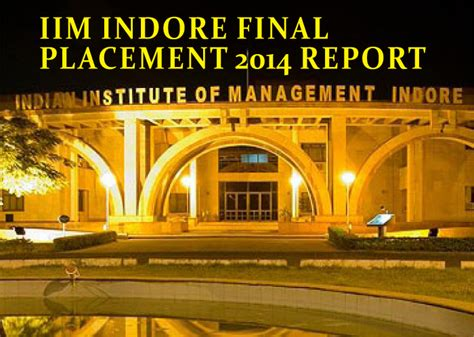 Iim Indore Distance Mba by Iim Indore Placement 2014 Highest Recruitment In