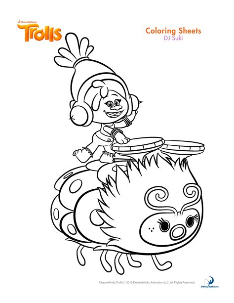 best color for kids trolls movie coloring pages best coloring pages for kids