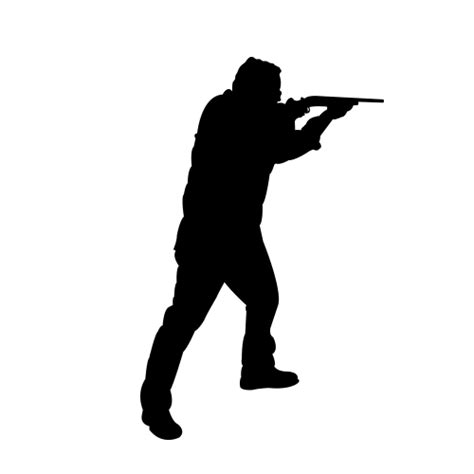 shooting silhouettes rifle shooting a gun silhouette