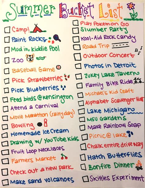 our family s 2017 summer list to beat boredom