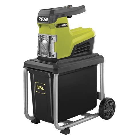 garten schredder ryobi electric silent shredder 2400w bunnings warehouse